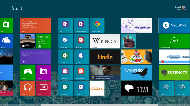������� ��������� Windows 8 ����� ��������� ������ ����������