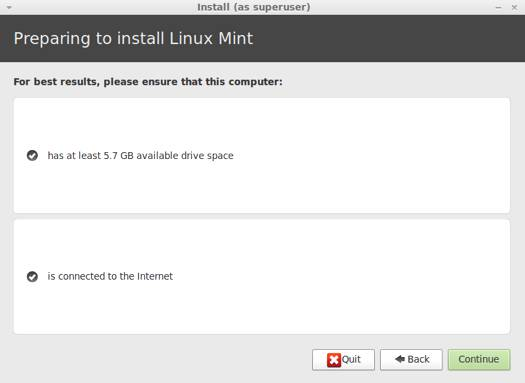 Linux Mint 13 ������� 5.7 GB ���������� ������������ �� �����