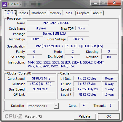 Intel Core i7-6700K Skylake Overclock ������